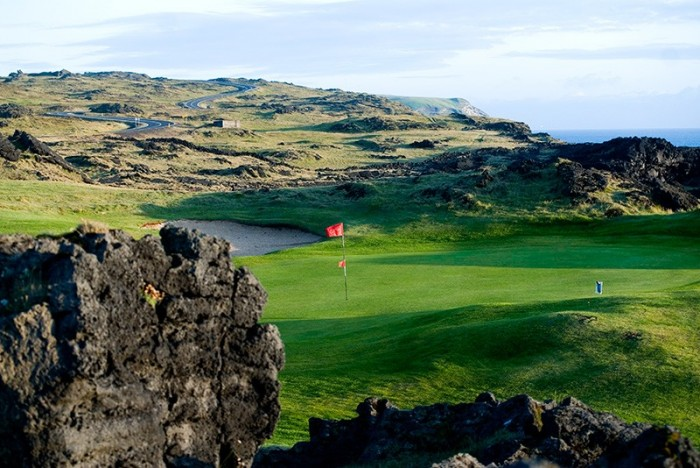 Westman Islands golf course. Iceland
